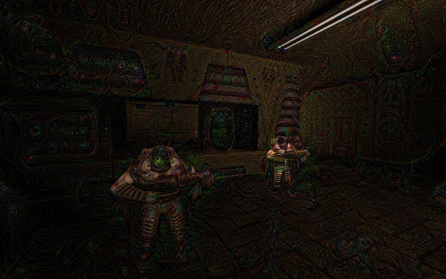 Quake, Ran Through Google's Deep Dream