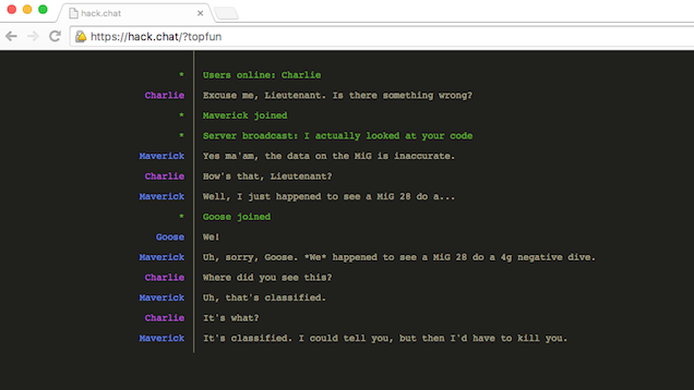 Hack.Chat Is an Easy to Use, Disposable Chat Client in Your Browser
