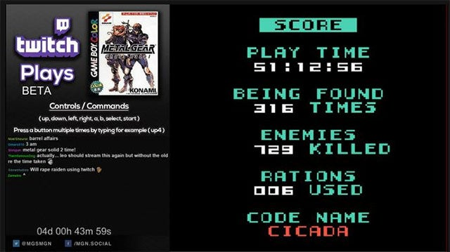 Twitch Actually Beat Metal Gear