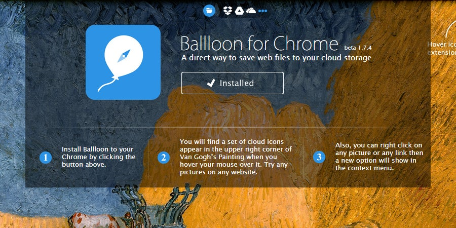 Use the Ballloon Extension to Save Files Straight to the Cloud
