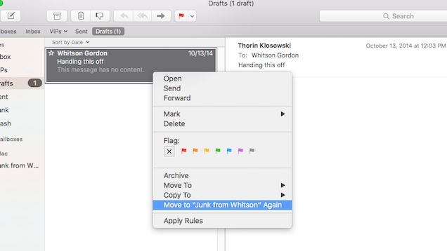 Quickly Move Messages to Folder in Apple Mail with a Keyboard Shortcut