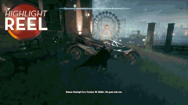 The Batmobile's Pretty Good At Backflips