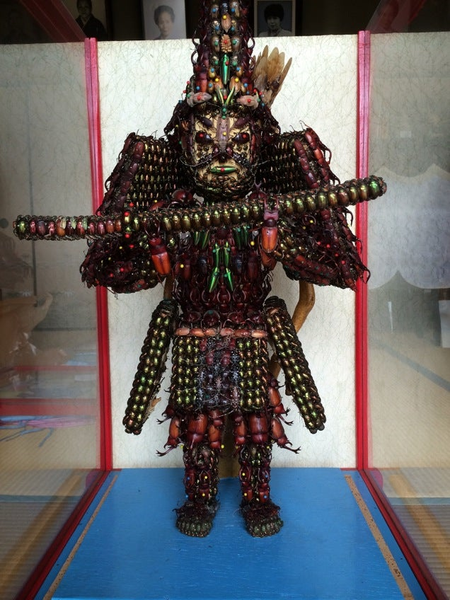 Japanese Statues Made with Dead Bugs