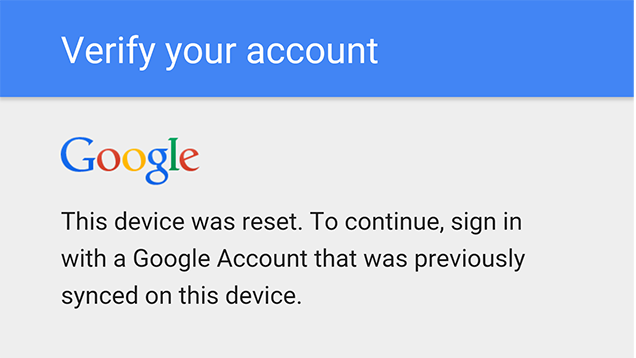 PSA: Don't Change Your Google Password Right Before Resetting Your Phone