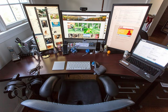 The Triple 4K Display Workspace