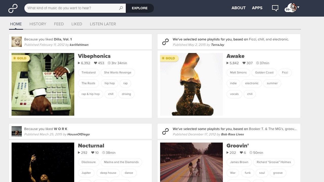 8Tracks Suggests Mixes Based On Your Listening, Unveils a New Interface