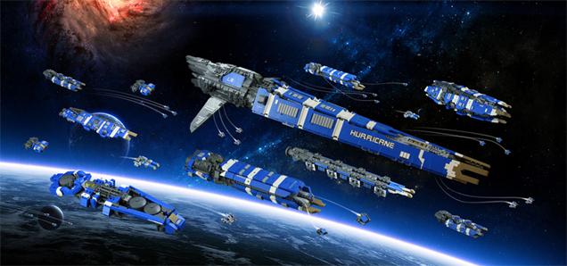 That's One Massive LEGO Space Fleet