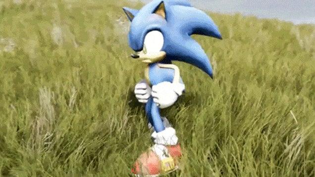 Sonic, Running Around In Unreal Engine 4