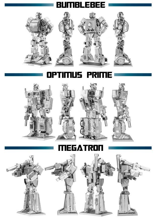 Transform a Thin Metal Sheet Into Optimus Prime, Bumblebee, or Megatron
