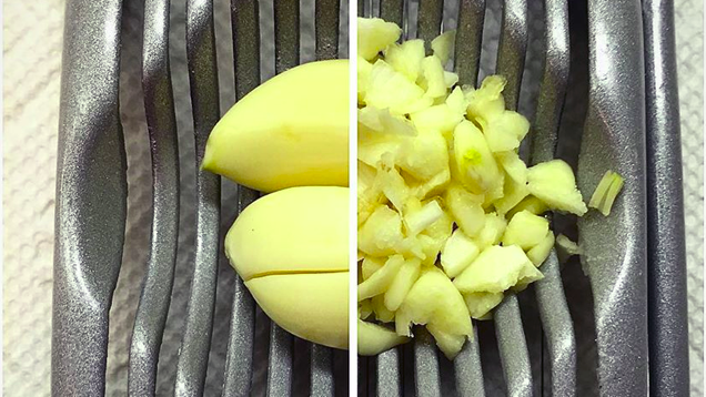Chop Garlic Quickly with an Egg Cutter