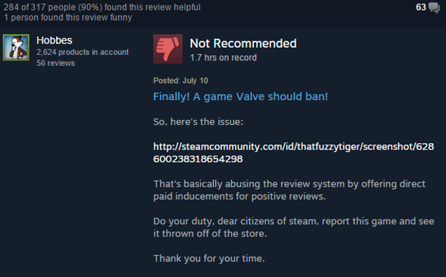 Game Offers Rewards For Steam Reviews, Players Not Pleased