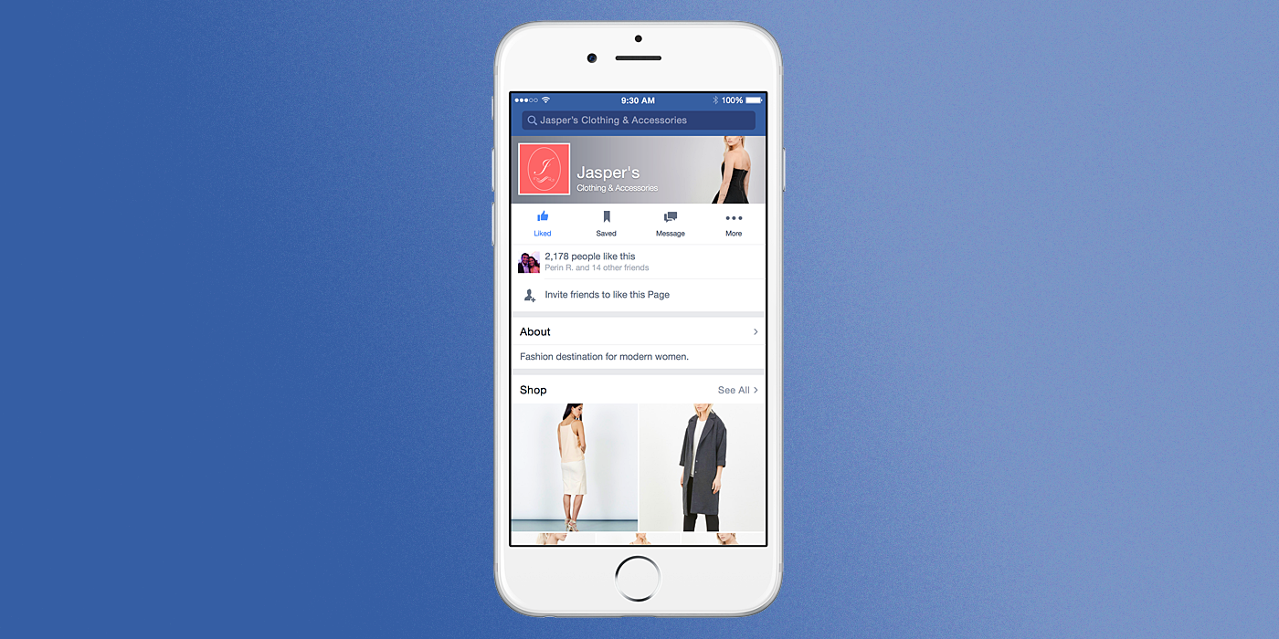 Facebook's Testing Online Shops Embedded Into Business Pages