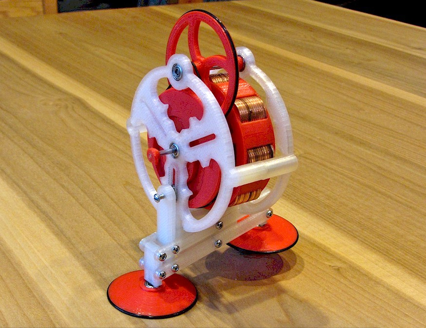 Got Loose Change? 104 Pennies Help This Simple 3D-Printed Toy Walk