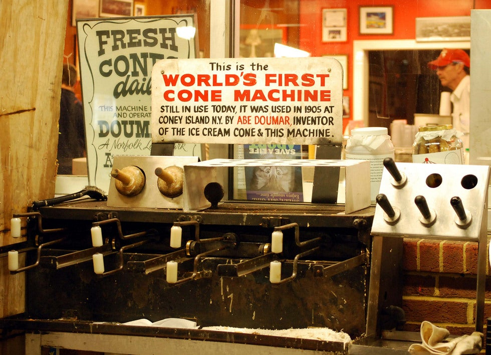 The World's First Waffle Cone Machine Is Still in Operation