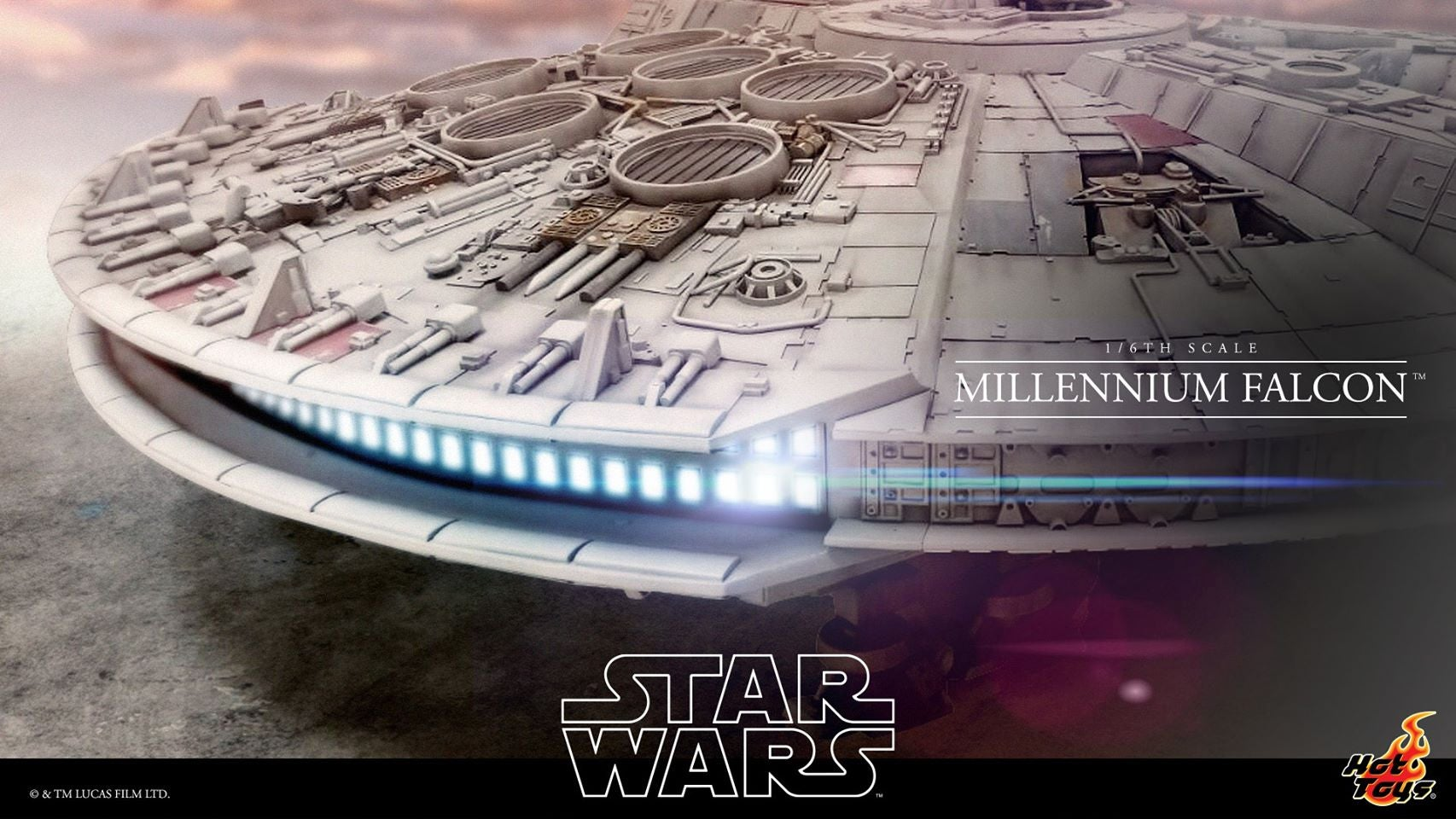 Hot Toys Is Making a Sixth-Scale Millennium Falcon That's 18-Feet Long