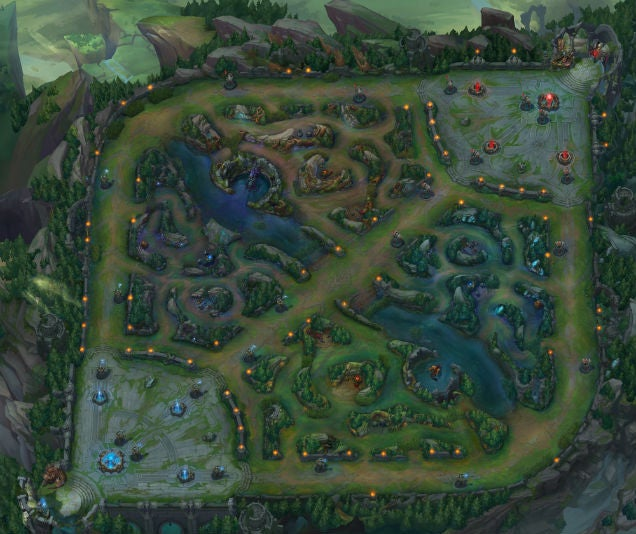 League Of Legends' Main Map In All Its Glory