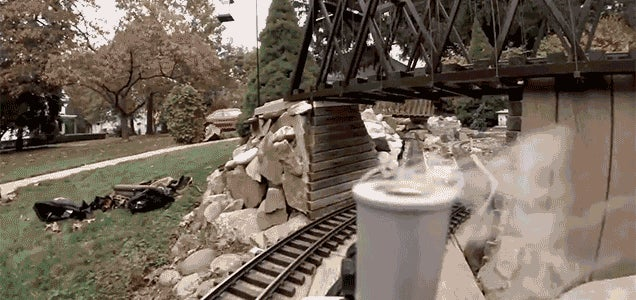 Ride Along on Tiny Trains With a GoPro Strapped to a Model Railroad