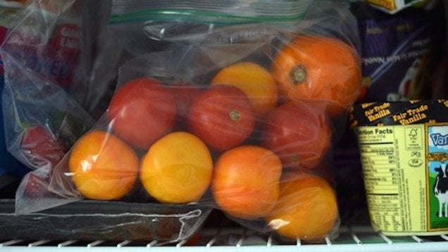 Freeze Whole Tomatoes Now to Preserve Their Flavour for Winter Sauces