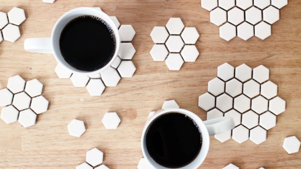 Turn Scrap Tile Backsplash Sheets Into Durable, Custom Coasters
