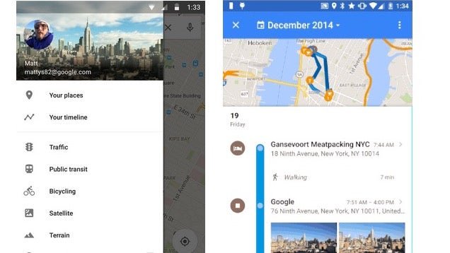 Google Maps Now Shows Your Location History in a Timeline
