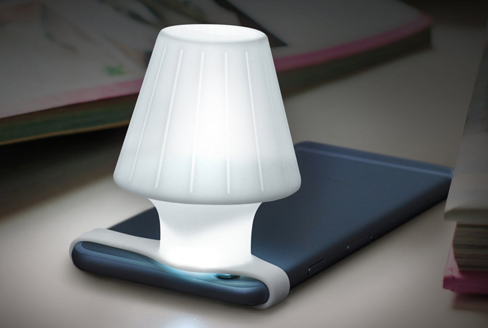 A Silicone Strap Turns Your Phone's Camera Flash Into a Bedside Lamp