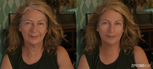 Incredible special effects reduces the age of a woman by decades