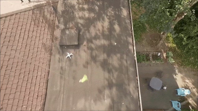 Guy Crashes Drone On Neighbour's Roof, Rescues It With Another Drone