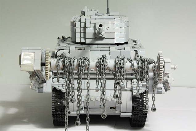 Fully Motorised LEGO Tank Has A Cool Mine Flail