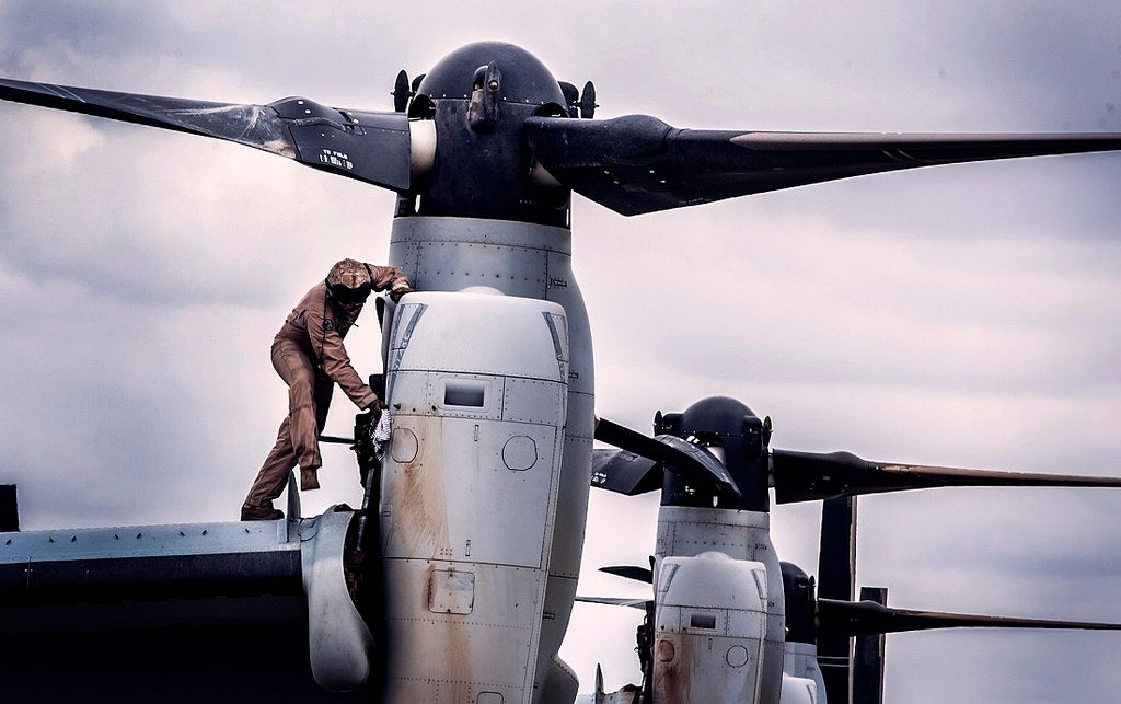 Even Cleaning The V-22 Osprey Looks Cool