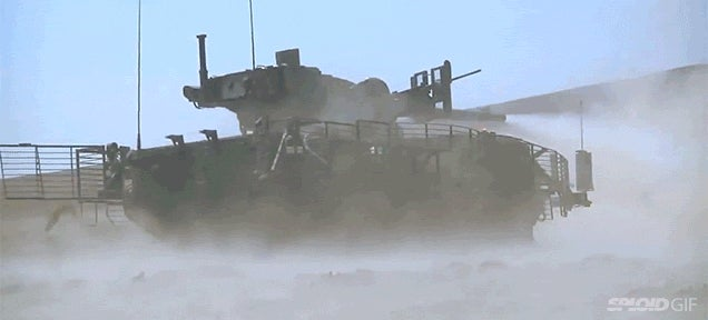 Seeing a M1128 Stryker fire its cannon makes my spine freeze
