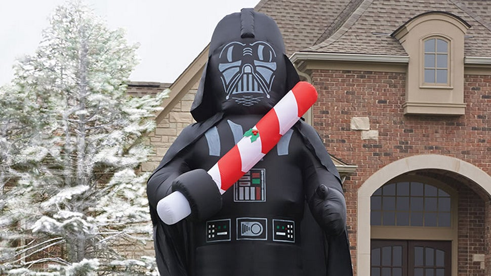 A 4.8m Tall Inflatable Vader Is Holiday Decorating Done Easy