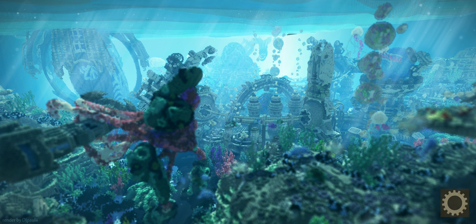 deep sea wonderland built in minecraft looks incredible