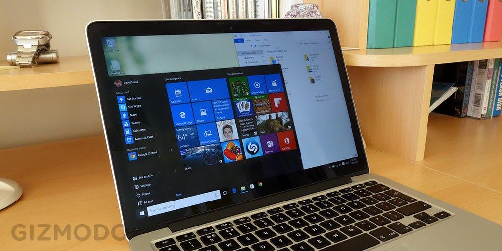 Windows 10, On A Mac | Gizmodo Australia