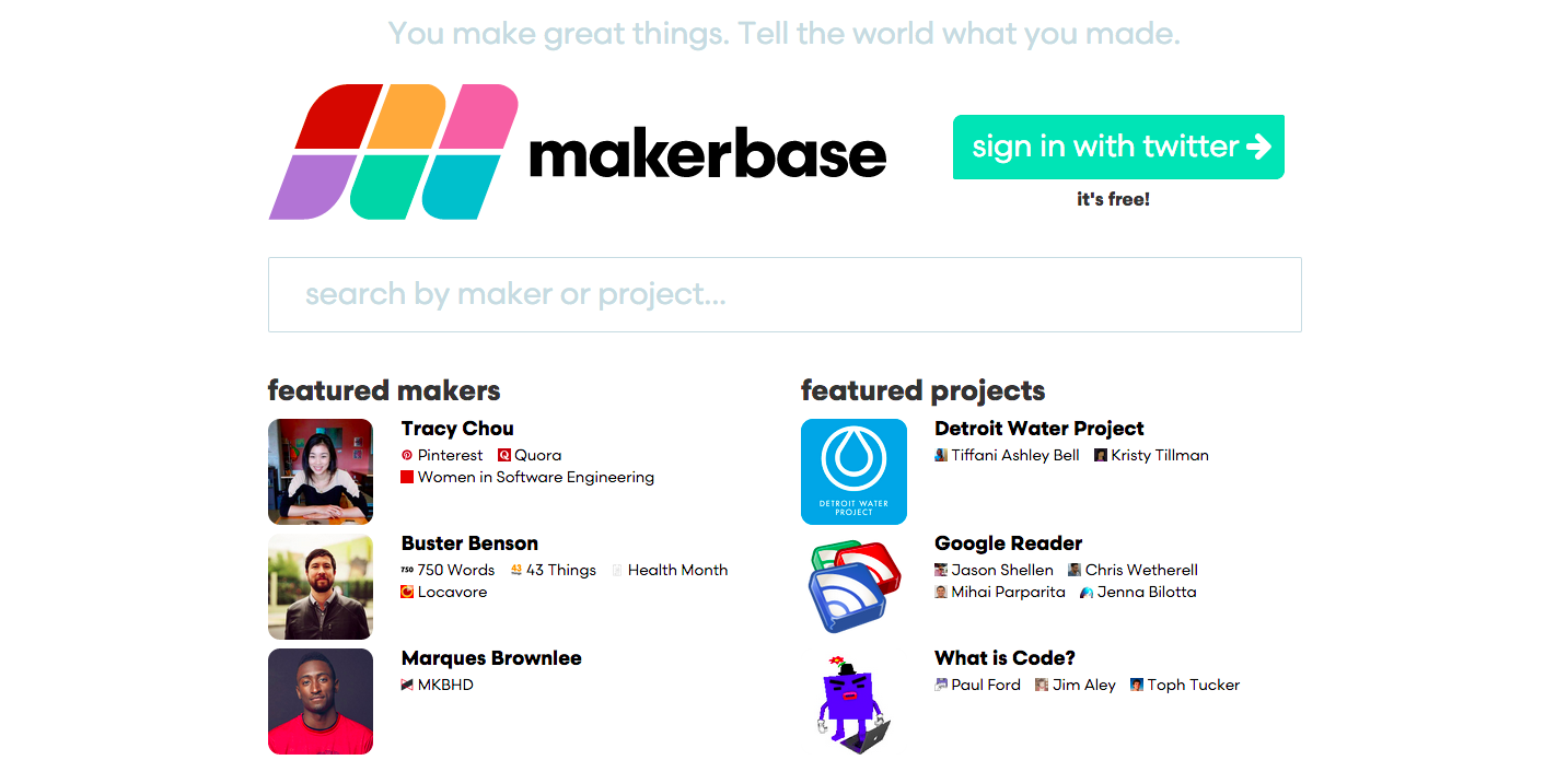 Makerbase Is Like Liner Notes for Your Favourite Stuff On the Internet