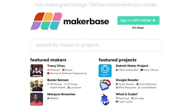 Makerbase Is a Directory of Tech Creators and Web Projects