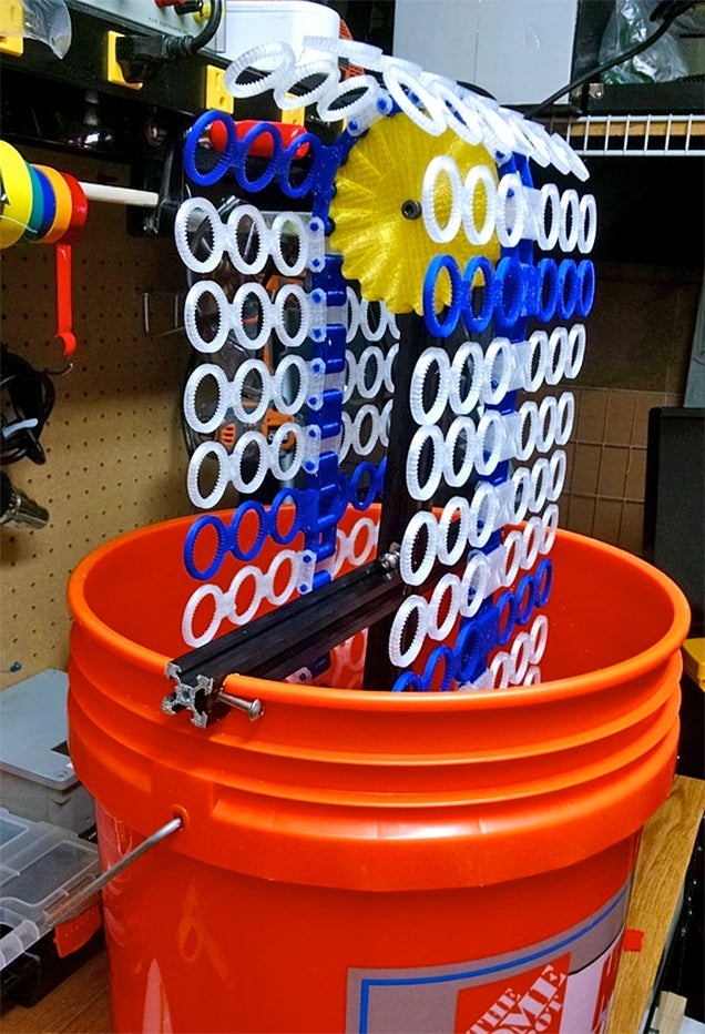 This 3D-Printed Machine Blows 14,000 Bubbles Per Minute