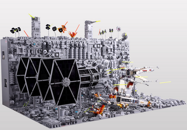 The Final Moments Of The First Death Star, In LEGO Form | Kotaku