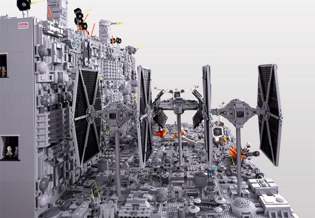 The Final Moments Of The First Death Star, In LEGO Form