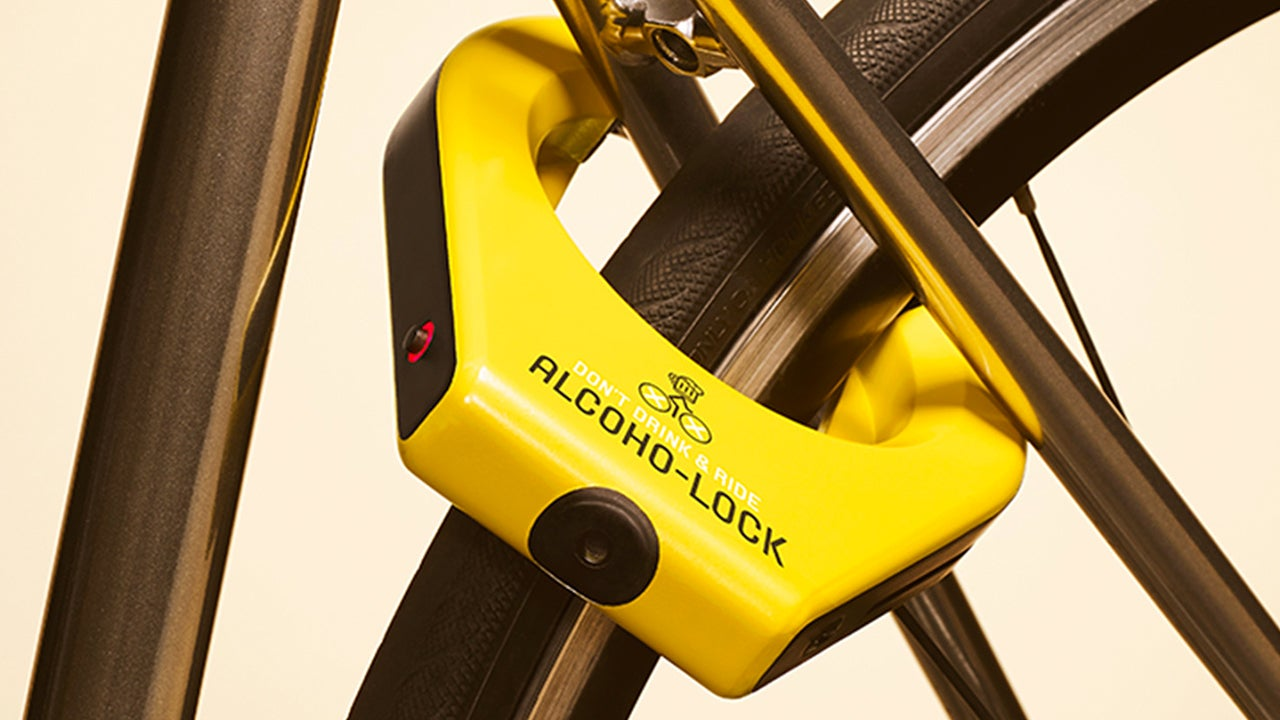 A Breathalyzer Bike Lock Makes You Blow Clean Before Cycling