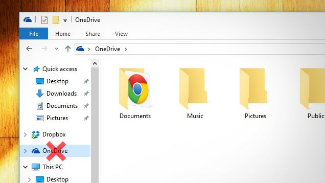 How To Get Rid Of The OneDrive Icon In Windows 10's File Explorer
