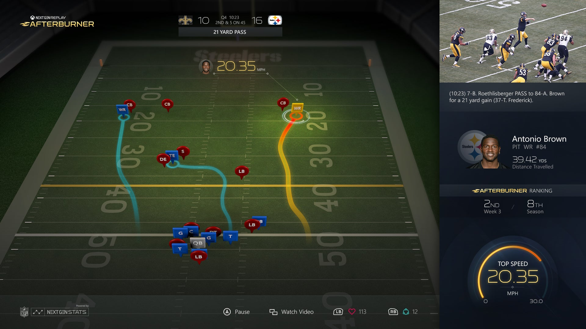 NFL Replays Are Going To Be Packed With Juicy Player Data This Year