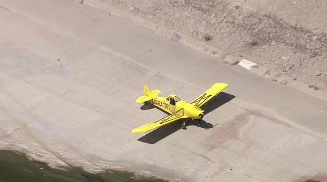 Plane Makes an Emergency Landing in the LA River