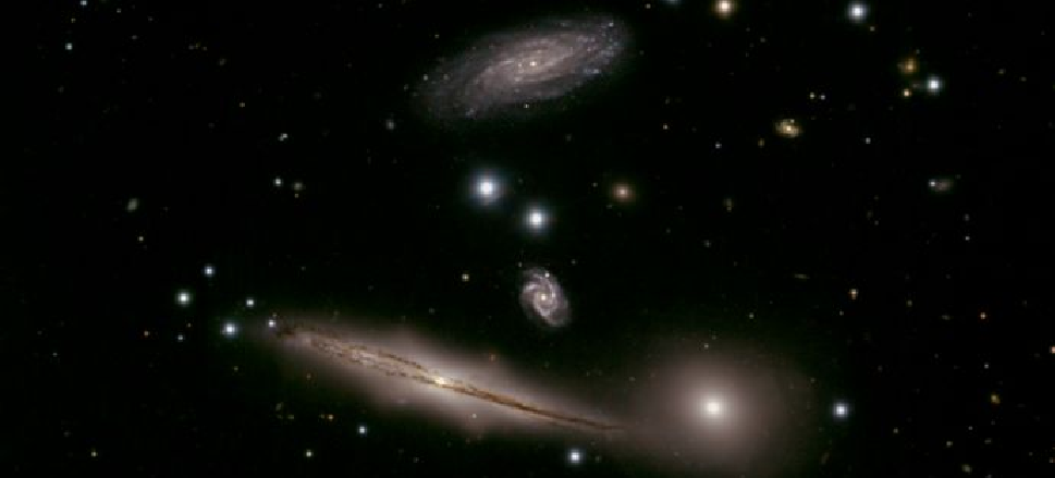 Four Galaxies Share a Destructive Dance