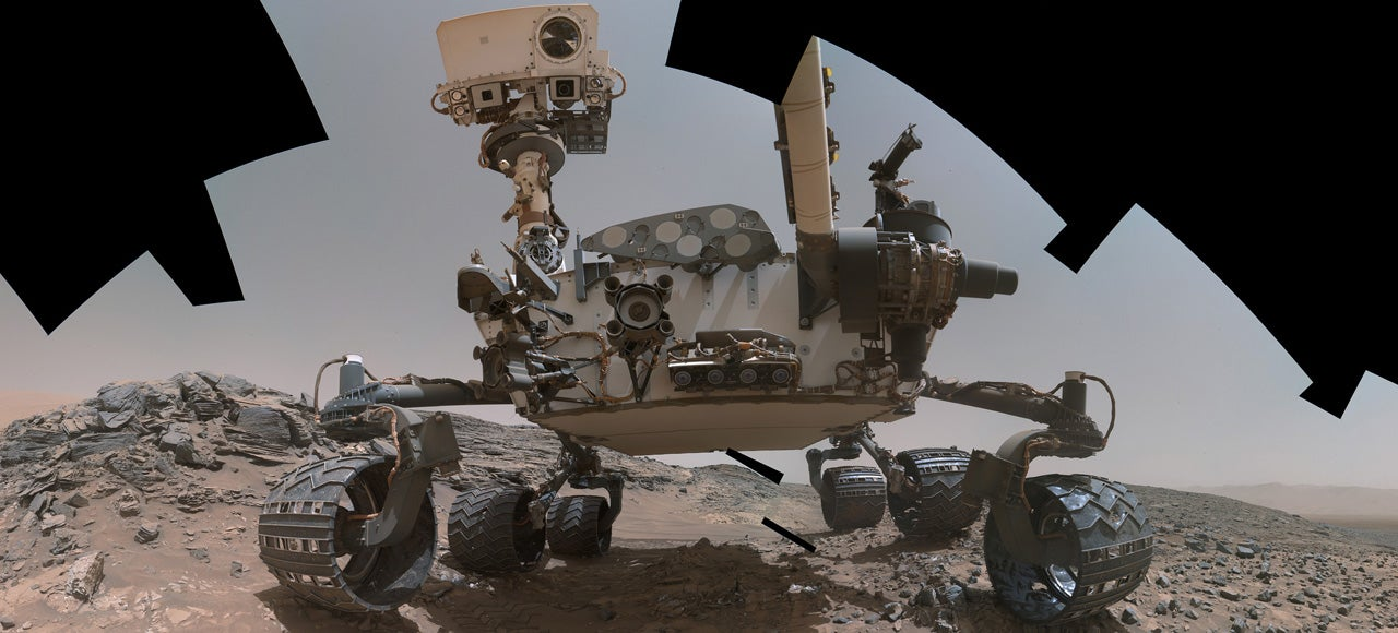A Fan Stitched Together the Best Selfie of Curiosity Yet