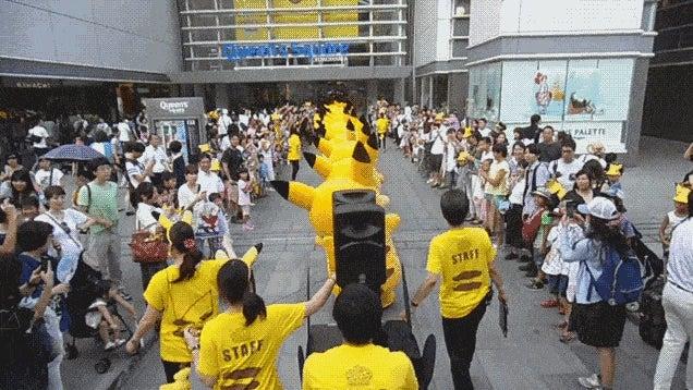 Pikachu Marching Is Mesmerising