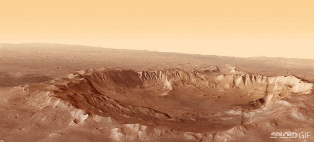 What a flyover of the surface of Mars would look like