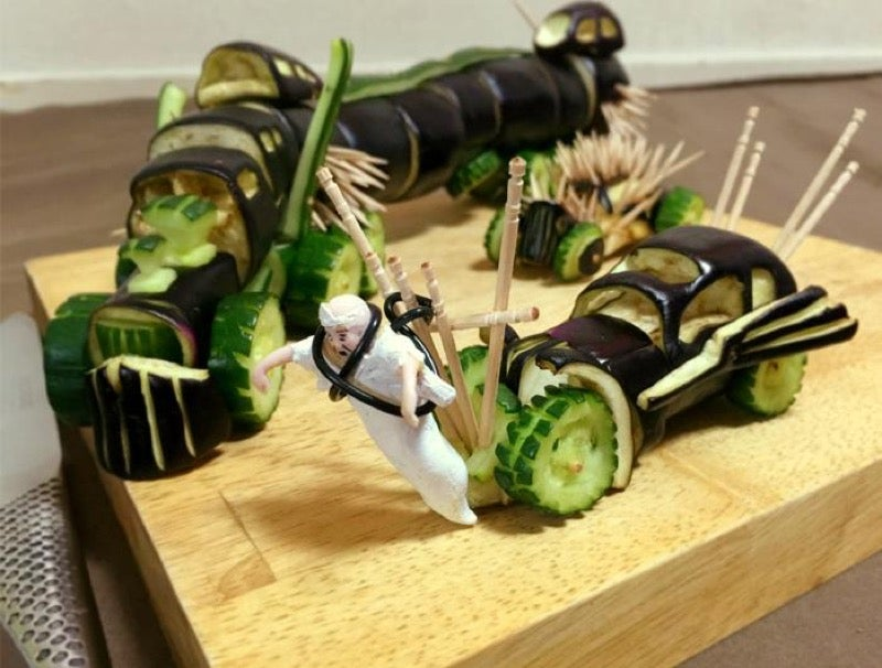 Mad Max Recreated with Vegetables for Dead Spirits