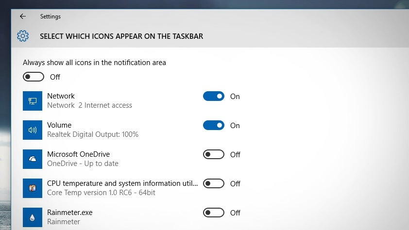 How to Customise the System Tray Icons in Windows 10