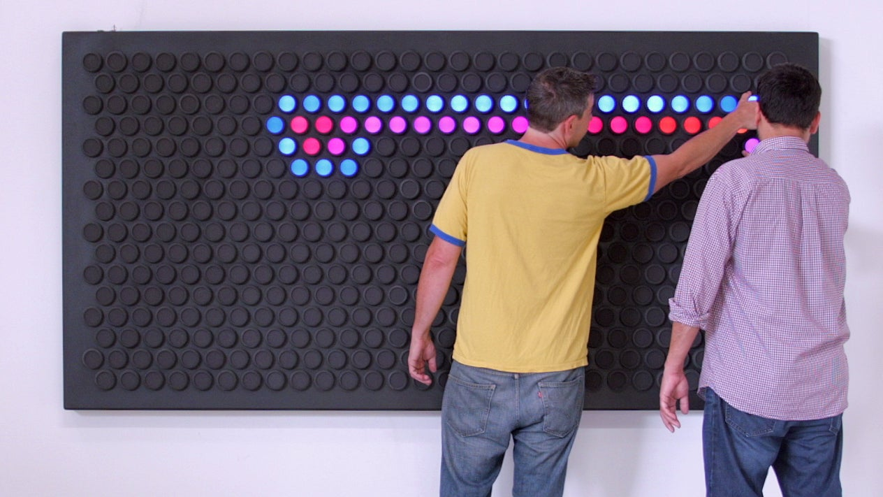 A Gigantic Upgraded Lite-Brite With Colour-Changing Dials Instead of Pegs
