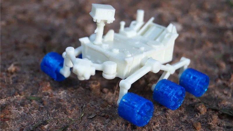 NASA Released a Free 3D-Printable Model of the Curiosity Rover